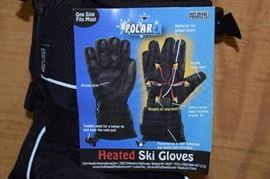 Polar Ex Battery Operated Heated Ski Gloves