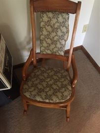 Vintage slipper rocker