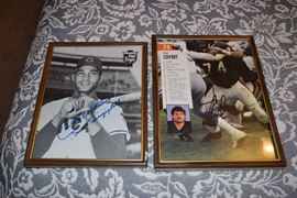 signed authograph chicago bears and chicago cubs