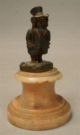 Lot 8 Small Anthropomorphic Bronze Dog Figure. Standing