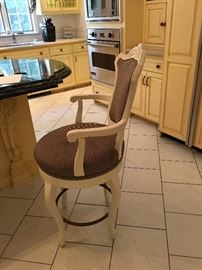 3  Bar / Counter Stools, they swivel !