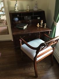 Mahogany Desk and Chair
