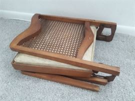 1 of 2 folding wood chairs