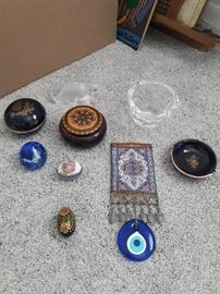 Limoges, crystal and misc items