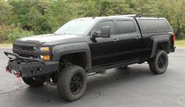 "2015 Rocky Ridge Customized Chevrolet Silverado Hammerhead ""Stealth"" Z71 Pickup Truck, VIN # 1GC1KWE85FF175995, 61690 Miles"