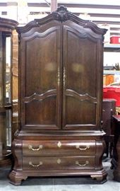 """Century Furniture Armoire, Dovetail Constructed Drawers, 45""""W x 86.5""""H x 20""""D"""