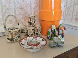 Japanese tea set, Japanese porcelain, Hakata Doll