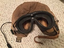 WW II Slots & Klein leather flight helmet