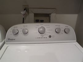 Like new Whirlpool washer & dryer purchased in 2016.
