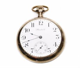 GORGEOUS STANDARD OPEN FACE EMBOSSED POCKET WATCH