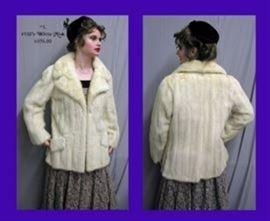 2.  1950s White Mink Jacket - $595.00