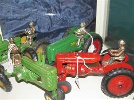 Large selection of vintage farm toys - many more than pictured