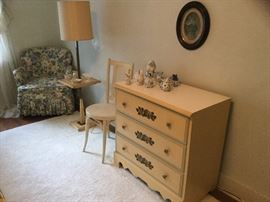 Stenciled little dresser