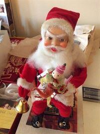 Vintage Metal Santa
