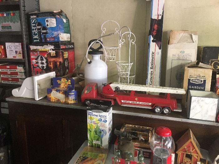 Metal toys...lighting....garden items