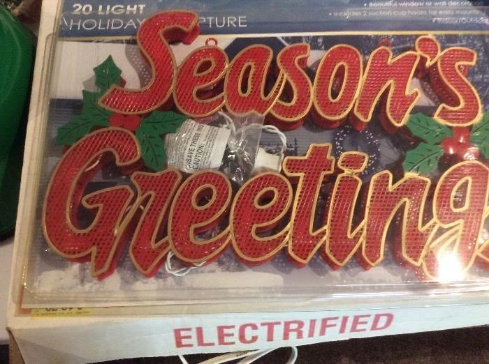 Holiday light up items...
