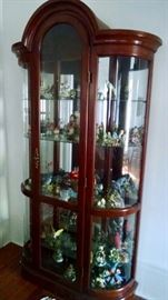 Gorgeous Curio!  Family will be keeping a few of the items inside ... but many more to replace these !