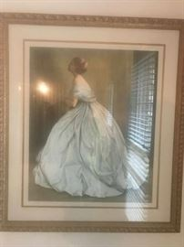 #7JPL painting of lady in long dress $75