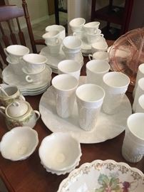 Tons of vintage milk glass!