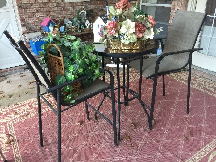 Listed By Annieu0027s Estate Sales Roll Top Desk, Patio Furniture, Bakers Rack,  Mirror Shelf Set,Bistro Patio Table