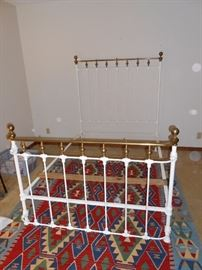 antique cast iron / brass full bed