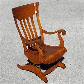 Furniture Oak Platform Rocking Chair