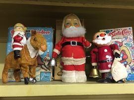 Vintage Windup Santas
