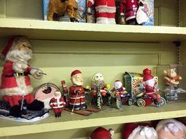 Vintage Wind up Santas