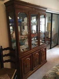 MCM Lighted china cabinet