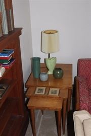 nesting table and 2 small wallace nuttings