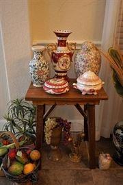 Porcelain urns and lidded jars