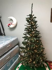 Lighted Artificial 4.5' Christmas Tree