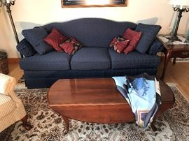 Country couch with drop-leaf coffee table