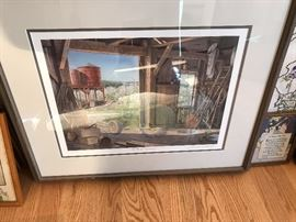 Well-known Wisconsin Door County artist with reflecting image