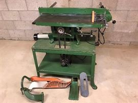 Very unusual well cared for antique adjustable table saw - collector's item