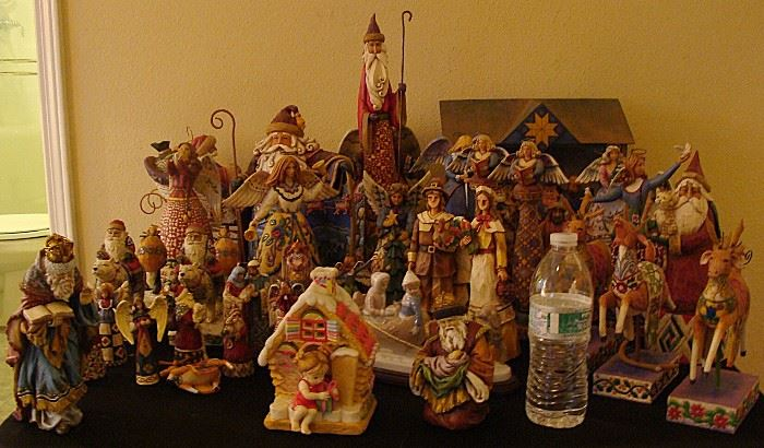 Large selection of JIM SHORE Christmas items