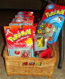 Vintage, Pokeman, Ball Blaster, Battle Figures, Sliders, Pull Backs, Pikachu