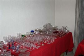 Wine glasses galore!