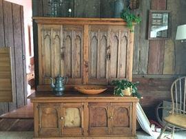 Primitive 1900's 2 piece Stepback Cupboard