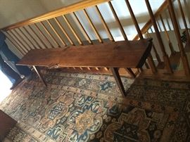 Wood plank bench