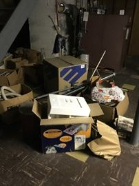 tons of misc. items in the basement