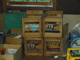 Fruit Crate Boxes with original labels