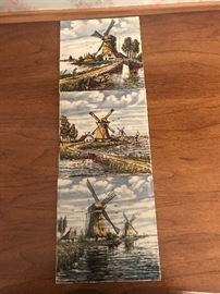Hand painted tiles from Holland