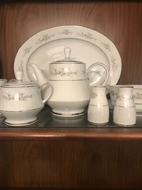 Nortake China- 10 piece place setting plus serving pieces