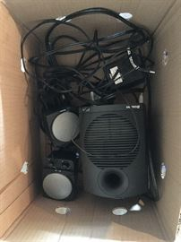 LOTS OF ELECTRONICS (PARTS/PIECES) & SOME SPEAKERS