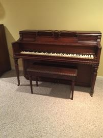 Story and Clark Spinet Piano - perfect for the beginner