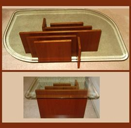Fabulous Mid Century Modern Teak Coffee Table and Matching End Table, Imported from Denmark