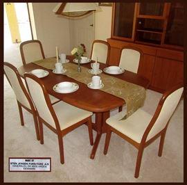 Gorgeous Teak Dinette Set; Chairs are Marked Sten Jensen Furniture Denmark