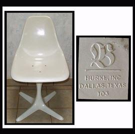Mid Century Modern Burke Inc Chair, Dallas Texas