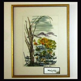 Signed Wahlfeldt Watercolor, One of 3 Available